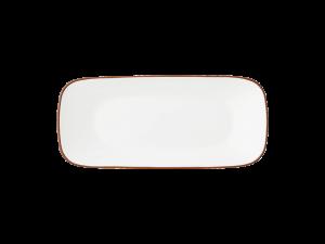 コレール タフホワイト(ネイチャー) スクエア長皿J2210-CRB