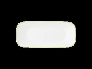 コレール タフホワイト(リーフ) スクエア長皿J2210-CRG
